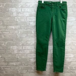 Pilcro and the Letterpress  green  skinny jeans